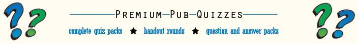 Premium Pub Quizzes at Bubble Tree Quizzes