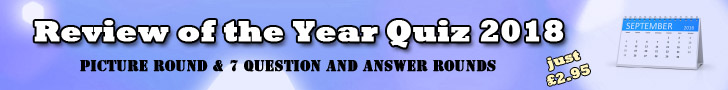Review of the Year 2018 Quiz at Bubble Tree Quizzes